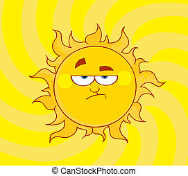 lustrzany, obniżający, słońce