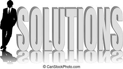 luta, lösningar, man