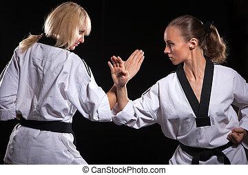 lutadores, quimono