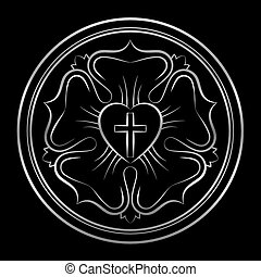 Luther Rose Silver Protestants Symbol - Luther rose symbol...