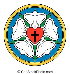 Luther rose symbol illustration - Luther rose, also Luther...