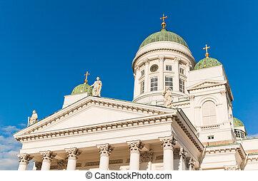 lutheran, area., helsinki., senatorial, catedral