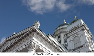 Lutheran Cathedral on Senate Square in Helsinki, Finland...