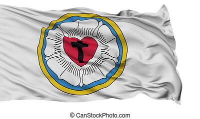 Lutheran Rose Religious Isolated Waving Flag