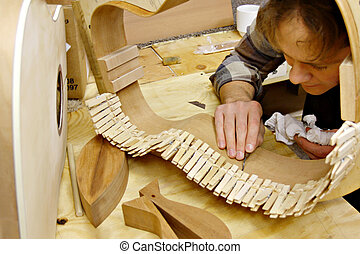 luthier, costruzione, officina, chitarra