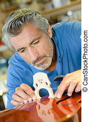 luthier, fissaggio, ponte