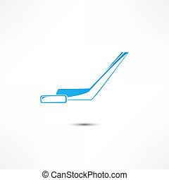 lutin, hockey bâton, icône