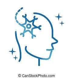 lutning, sjukdom, neurologiska, neuron, fodra, cell, ...