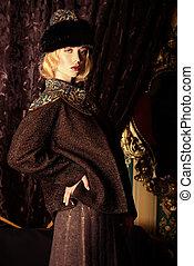lux lux - Portrait of a beautiful fashion model in a rich...