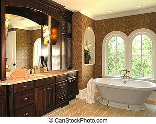 luxe, 5, -, salle bains, 3