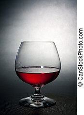 luxe, balloon, crysal, verre, rouges, liqueur