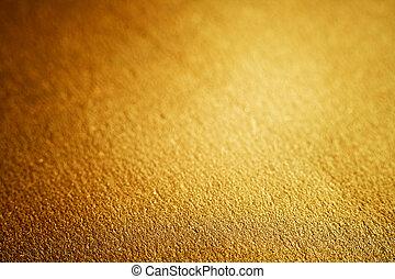 luxe, gouden, textuur, ondiep, dof