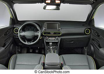 luxe, intérieur, voiture passager