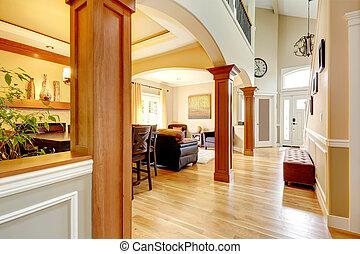 luxe, interior., thuis
