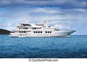 luxe, loyer, yacht