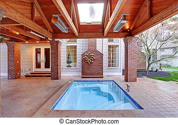 maison jacuzzi luxe patio secteur fleur confortable photographie de stock rechercher. Black Bedroom Furniture Sets. Home Design Ideas