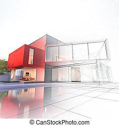 luxe, maison, projet