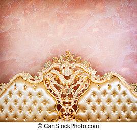 luxe, meubel, detail., interieur