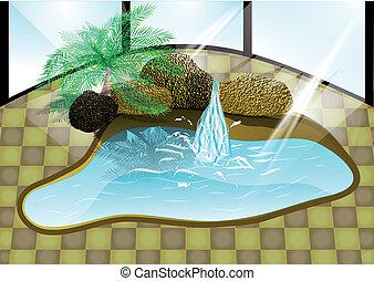 luxe, piscine
