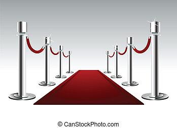 luxe, rood tapijt