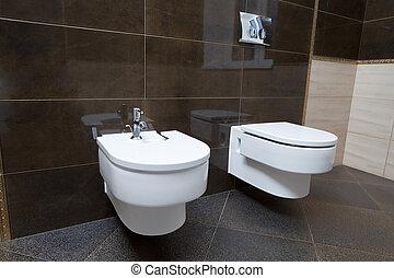 luxe, salle bains