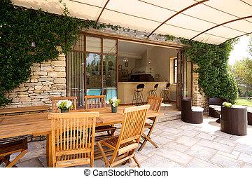 luxe, terrasse