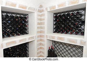 luxe, vin, maison, cave