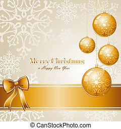 luxe, zalige kerst, achtergrond, eps10, vector, file.