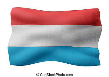 Luxembourg 3d flag