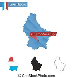 Luxembourg City Capital Of The Grand Duchy Of Luxembourg Vector - Luxembourg map vector