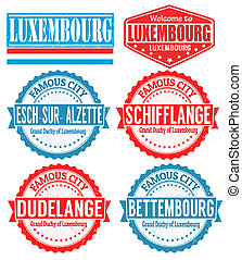 Luxembourg cities stamps