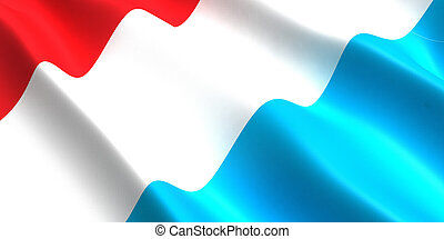 luxembourg flag 3d