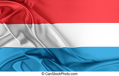 Luxembourg Flag. Flag with a beautiful glossy silk texture.