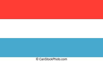 luxembourg Flag for Independence Day and infographic Vector illustration.