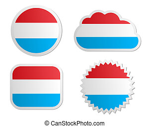 Luxembourg flag labels