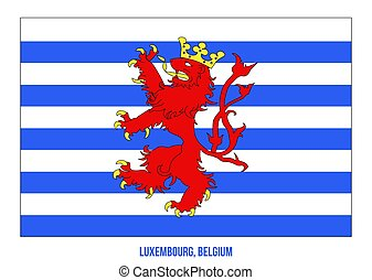 Luxembourg Flag Vector Illustration on White Background. Provinces Flags of Belgium.