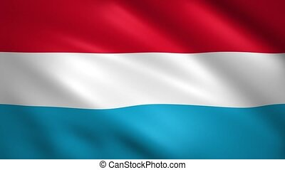 Luxembourg flag waving in the wind