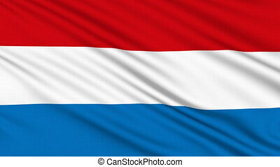 Luxembourg flag, with real structure of a fabric