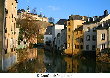 Luxembourg-Grund - The old part of Luxembourg-City