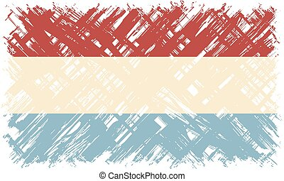 Luxembourg grunge flag. Vector illustration.