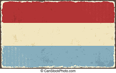 Luxembourg grunge flag. Vector illustration