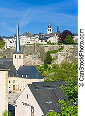 Luxembourg in a sunny day
