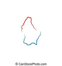 luxembourg map logo icon vector symbol element
