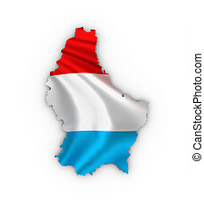Luxembourg map luxembourgian flag - Luxembourg map showing ...