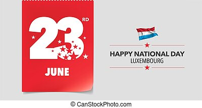 Luxembourg national day greeting card, banner, vector ...