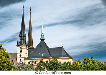 Luxembourg. Notre-dame Cathedral. Grand Duchy Of Luxembourg....