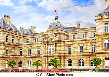 Luxembourg Palace  in Paris, France.