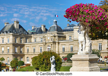The beautiful palace of Luxembourg in Paris, France