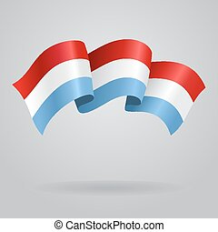Luxembourg waving Flag. Vector illustration