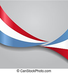 Luxembourg wavy flag. Vector illustration.